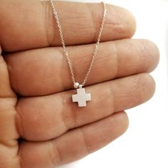 Solid Gold, White Gold, Gold Pendants, Cross Chain, Gold Pearl, Leather Pouch, Classy Women, Cross Pendant, Jewelry Shop