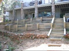 how to build a railroad tie retaining wall - Google Search