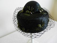 Raymond Hudd pillbox hat with spiders