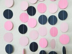 Nautical Pinks Navy Blue Party Decoration Garland by TheKraftRoom, $10.00
