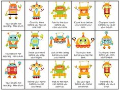 Reacting Robots: targets following 2-step directions and/or 1-  2-step conditional directions, including age-appropriate concepts (first/then, before, after, at the same time), when presented verbally/in written form in a fun robot-themed game! From @sublimespeech - 28% off 11/26-27 on TpT!