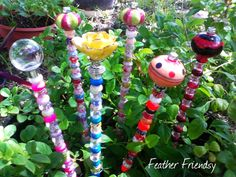 fairy wand garden stakes beaded garden stakes for your fairy garden or potted plants