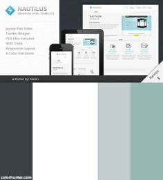 Nautilus One Page Responsive Html Business Landing Page Template Color Scheme