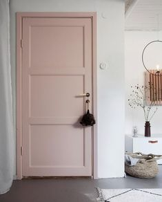 my scandinavian home: Green and Pink Accents in a Beautiful Swedish Family Home