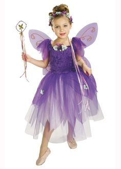 Childs Size Purple Fairy Plum Pixie Costume. Precious- makes me wish I was a little girl again... almost.