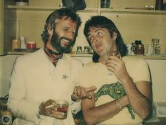 Ringo and Paul. Photo taken by Linda McCartney