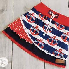 Ein maritimes #Lienchen ist heute entstanden Ich liebe die Farbkombination für den Sommer! Alle Nähbegeisterten bekommen ab sofort auch #Nähpakete bei uns im Shop! Ein Set für diesen Rock ist noch zu haben: www.pomundpino.de #pomundpino #nähenisttoll #rock #ankerliebe #sew #sewingforkids #sewing #schnittmuster