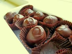 Chocolate truffles cost a lot when purchased from a candy retailer, but you can make them yourself easily with just two ingredients. All you need is two and a half boxes of melting chocolate and eight ounces of cream cheese.