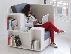 Шкаф кровать, откидные кровати с диваном и без, кровать трансформер Москва : Кресло-библиотека