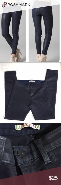 "J brand glory coated jeans leggings size 26 J brand glory coated jeans leggings size 26.. Blue .. Lengths 37"" inseam 28 1/2....blue .. J Brand Jeans Skinny"