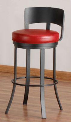 Tempo Birkin Swivel Bar Stool with Cushion & Virginia Cross-Back Bar Stools 30