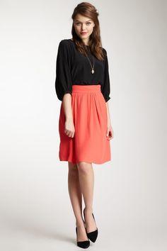Pippa Pop Crepe Wide Skirt by Pippa & Teagan on @HauteLook