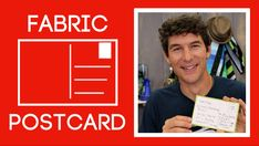 Sewing Men Projects Fabric Postcards: Easy Sewing Tutorial with Rob Appell of Man Sewing - Quilting Tutorials, Sewing Tutorials, Sewing Projects, Video Tutorials, Sewing Ideas, Quilting Ideas, Modern Quilting, Quilting Fabric, Quilting Projects