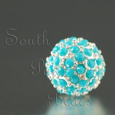 Turquoise 10mm Pave bead, $6.59