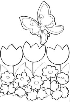 Spring Coloring Pages: Spring coloring sheets can actually help your kid learn more about the spring season. Here are top 25 spring coloring pages free Spring Coloring Pages, Easter Coloring Pages, Flower Coloring Pages, Coloring Book Pages, Coloring Pages For Kids, Coloring Sheets, Butterfly Coloring Page, Kids Pages, Drawing For Kids