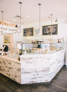 Tour milk jar cookies brick + mortar shop - inspired by this bakery design, cafe Bakery Decor, Bakery Interior, Bakery Design, Cafe Design, Restaurant Design, Cupcake Shop Interior, Pub Decor, Bakery Ideas, Design Design