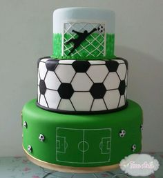 Football Birthday Cake, Soccer Birthday Parties, Soccer Party, Football Cakes For Boys, Barcelona Cake, Soccer Ball Cake, Cake Land, Sport Cakes, Homemade Cakes
