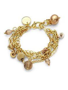 1AR by UNOAERRE - Glass Bead Accent Bracelet