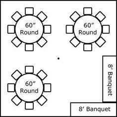 Banquet Table Set Up Diagram Buffet Set Up Diagrams