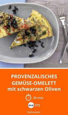 Provenzalisches Gemüse-Omelett - mit schwarzen Oliven - smarter - Kalorien: 315 kcal - Zeit: 20 Min.   eatsmarter.de