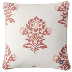 Serena & Lily Coral Jaipur Pillow Cover ($64) via Polyvore