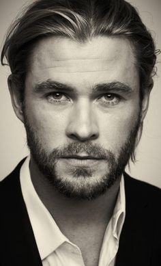 Chris Hemsworth-love the way his eyes look in the picture