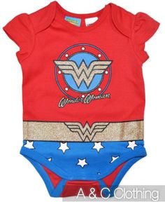 Baby girls Wonderwoman Wonder Woman Onesie BNWT New Romper Bodysuit costume