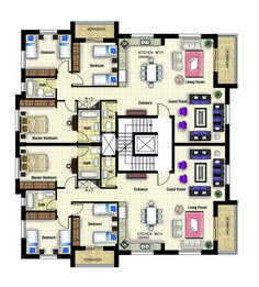 Residential building_Ramallah plan My work in Engineering Offic. - Architecture - Home Design Office Building Plans, Building Layout, Residential Building Plan, Hotel Floor Plan, Architecture Résidentielle, Model House Plan, Apartment Floor Plans, Architectural Design House Plans, Home Design Plans