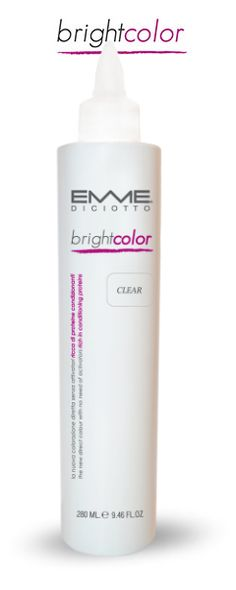 Brightcolor Clear 250 mi - 8.3 fi. Oz. A PERFECT AND FAST TREATMENT MAKES DAMAGED HAIR YOUNG GIVES ONE MORE APTITUDE TO THE SALON, ALWAYS AND ANYWHERE!  #Emmediciotto #HairColor