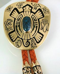 Watson Honanie RARE Gem Grade Lander Blue Spiderweb Turquoise Bolo Tie | eBay  Hand made by one of the most famous and talented silver and goldsmiths in Indian Country, this magnificent bolo tie is the work of award winning Hopi artist, Watson Honanie. The piece features turquoise from the famous and now depleted Lander Blue mine in Nevada. Highly prized as the most valuable turquoise in the world the cabochon is an exquisite deep blue with tight dark chocolate-brown spiderweb matrix.  $9500