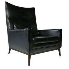 Paul McCobb chair in black vinyl