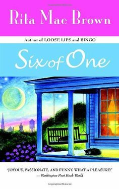 Six of One von Rita Mae Brown, http://www.amazon.de/dp/0553380370/ref=cm_sw_r_pi_dp_s3-Krb1ET15M3