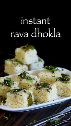 rava dhokla recipe, instant sooji dhokla , suji ka dhokla with step by step photo/video. veg snack delicacy from the gujarati cuisine for breakfast Pakora Recipes, Paratha Recipes, Veg Recipes, Spicy Recipes, Cooking Recipes, Snacks Recipes, Pizza Recipes, Indian Dessert Recipes, Indian Snacks