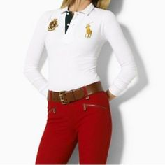 Polo Ralph Lauren Femme · 2015 spring auturn big horse 100% Cotton Womens  brand Embroidery long Sleeve solid polo ralph e6873ce15d5