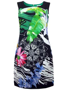 NEW TEXT BLACK FLORAL MULTI COLOUR SLEEVELESS A LINE SHIFT TUNIC DRESS 12 to 18 Beach Tunic, Summer Sundresses, Tie Dye Skirt, 18th, Colour, Abstract, Lady, Floral, Style