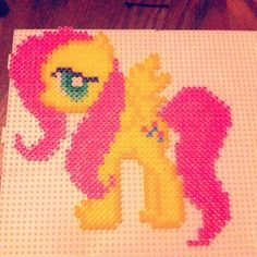 MLP Fluttershy hama perler beads by brullee