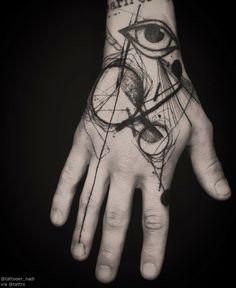 "tattrx: ""Tattooer Nadi | Seoul Korea ""Artist's Hand #2 , For @rumforkonst . Thank you again "" naditat2@gmail.com """