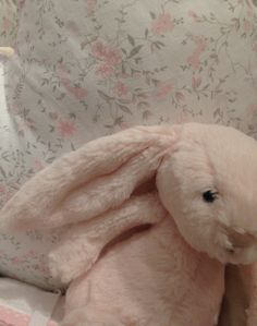 Peachy pink bunny.