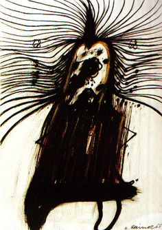 A portrait without a face - Arnulf Rainer