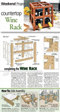 Wine Rack Plan - Woodworking Plans and Projects | WoodArchivist.com