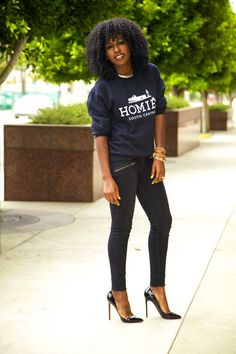 Style Pantry | Homies Crew Neck + Zippered Skinnies