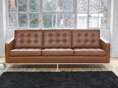 francis knoll tan 3 seater cushions - Google Search
