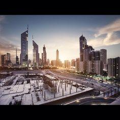 Dubai under additional construction. Dubai Travel Guide, Villa, East Africa, Number One, Travel Guides, Grid, New York Skyline, Travel Photography, Landscape