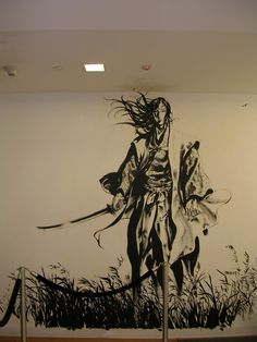 Takehiko Inoue - The Vagabond Mural, Kinokuniya, New York Samurai Tattoo, Samurai Art, Ink Illustrations, Illustration Art, Vagabond Manga, Inoue Takehiko, Miyamoto Musashi, Drawing Sketches, Drawings
