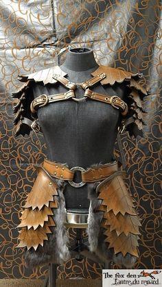 Leather leaf armor set ''petite'' version made by lantredurenard