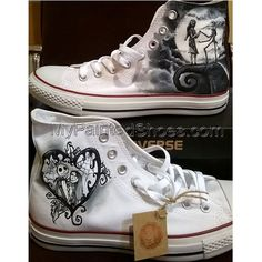 Nightmare before Christmas hand painted Converse shoes,custom wedding shoes ,han. Nightmare before Christmas hand painted Converse shoes,custom wedding shoes ,hand painted wedding shoes. Outfits With Converse, Converse Sneakers, Converse All Star, Converse Chuck Taylor, Adidas Shoes, Painted Converse, Painted Canvas Shoes, Hand Painted Shoes, Women's Shoes