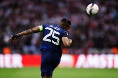 Antonio Valencia of Manchester United during the UEFA Europa League Final between Ajax and Manchester United at Friends Arena on May 24 2017 in...