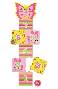 Melissa & Doug Butterfly Hopscotch Puzzle Game