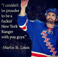 Image result for martin st louis proud to be a ny ranger