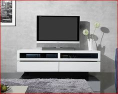 B33701-WG Eastwood 71 Inch White Lacquer Entertainment Center by BTB Furniture